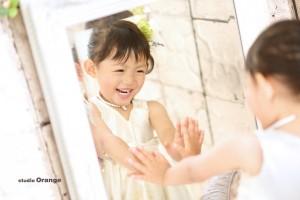 笑顔 奈良 七五三 鏡
